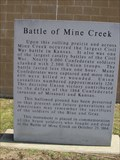 Image for Battle of Mine Creek -- nr Pleasanton KS