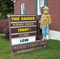 Image for Smokey Bear at the Belchertown, MA Firestation