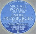Image for Michael Powell and Emeric Pressburger Blue Plaque - Gloucester Place, London, UK