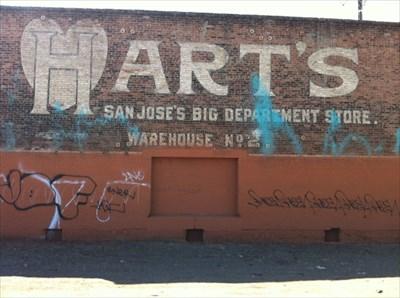 Hart's Warehouse Sign, San Jose, CA