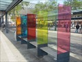 Image for Colorful Bus Shelters - Busbahnhof Böblingen, Germany, BW