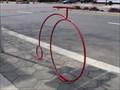 Image for Red Penny-farthing Bike Rack - Jacksonville, FL