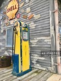Image for Blue Sunoco vintage gasoline pump - WVLG - The Villages, Florida  USA