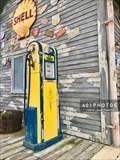 Image for Blue Sunoco vintage gasoline pump - WVLG - The Villages, Florida  USA