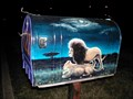 Image for LION PAINTED MAILBOX AT HIGH SCHOOL