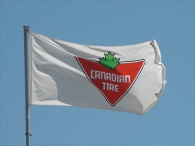 Canadian Tire - Regent Ave - Winnipeg MB - Flags of Organizations on