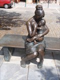 "Image for ""Bench of Messages""  and the sculpture ""Mother and Child"",Šumperk,CZ"