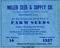 Image for Miller Seed and Supply -- York Nebraska -- 1949