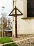 Image for Cross beside Church of Virgin Mary Assumption, Plana, Czech Republic