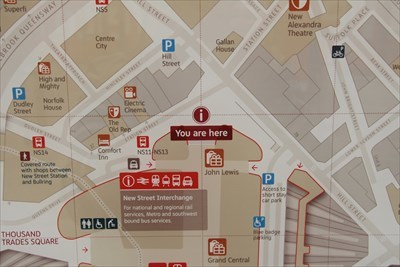 You Are Here Station Street Birmingham Uk You Are Here Maps