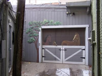 Barn Door Garage Door   Ann Arbor, Michigan   Garage Door Art On  Waymarking.com