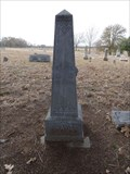 Image for FIRST Burial in Cottonwood Cemetery - Cottonwood, TX
