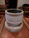 Image for Norman Font - Holy Trinity Church - Marcross, Vale of Glamorgan, Wales.