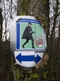 Image for Baum frisst Wanderwegschild - Bedburg, Germany