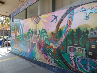 Mural on the south end of entrance.