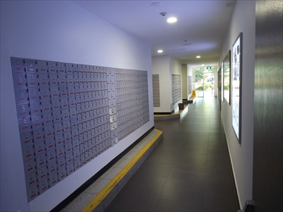 The corridor through to Vernon Street, that has the Postal Boxes. 24/7 Access from there when the Coffs Central shops are locked up.
