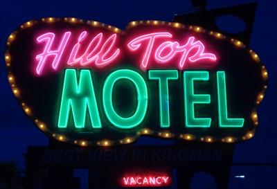 Hill Top Motel - Artistic Neon