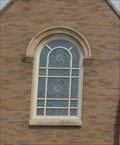 Image for Stained Glass Window above the front door - St. Louis Catholic Church - Clarksville MD