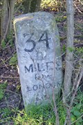 Image for Mile Stone - Great North Road, Jacks Hill - London 34 miles.