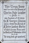 Image for Hebrews 11:4 - Memorial Plaque to Charles Fuge Lowder - Wapping Lane, London, UK