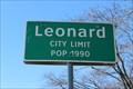 Image for Leonard, TX - Population 1990