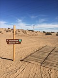 Image for Wooden plank road cut through dunes to Yuma - Felicity, CA