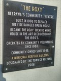 Image for Roxy Theatre Historical Plaque - Neepawa, Manitoba