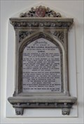 Image for Revelation XIV. 13 - Tablet in memory of Rev. Scarfe - Holy Trinity Church, Elsecar, Barnsley, South Yorkshire, UK.