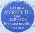 Image for George Meredith - Hobury Street, London, UK