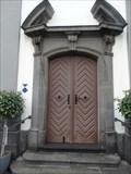Image for Eingangstüre der Barockkirche St. Cäcilia - Saffig - RLP - Germany