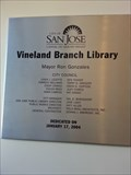 Image for Vineyard Branch Library - 2004 - San Jose, CA