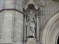 Image for Monarchs - Queen Elizabeth On Side of City Hall - Bradford, UK