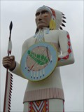 Image for Giant Indian Chief - Satellite Oddity - Big Cabin, Oklahoma, USA.