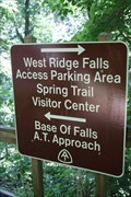 Image for West Ridge Falls AT Sign -- Amicalola Falls SP, Dawsonville GA