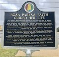 Image for Rosa Parks's Faith Guided Her Life - Montgomery, AL