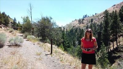 My wife posing near the trailhead