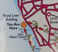 "Image for ""You Are Here"" On The Trans Pennine Trail At Pier Head - Liverpool, UK"