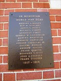 Image for Memorial Library World War Memorial Plaque - Collinsville, Illinois