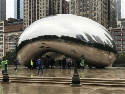 Cloud Gate, From the Right, Chicago, Illinois