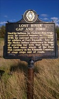 Image for LOST RIVER GAP AND FORD Historical Marker - Klamath County, OR