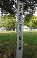 Image for Peace Pole - Sarasota, Florida, USA.