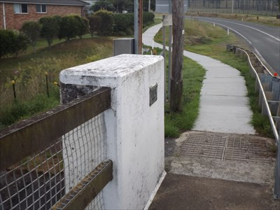 Location of the eastern DMR plaque, on the northern side of the bridge, beside the footpath.0703, Friday, 11 November, 2016
