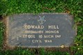 Image for Captain Edward Hill, National Cemetery, Fredericksburg, VA