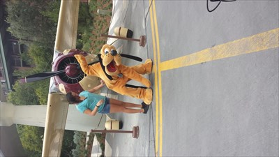 Pluto posing for pictures at Condor Flats.  Photo taken over the benchmark.