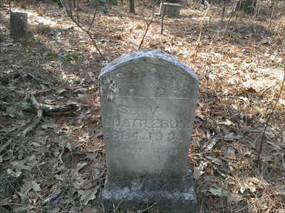 grave marker at the site