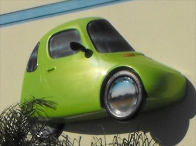 Corbin Sparrow Electric Car Hollister California 3 Dimensional Art On Waymarking