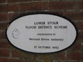 Image for Lower Stour Flood Defence Scheme Plaque - Iford, Hampshire, UK