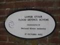 Image for Lower Stour Flood Defence Scheme Plaque - Iford, Hampshire, UK