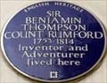 Image for Sir Benjamin Thompson - Brompton Road, London, UK
