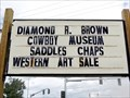 Image for Diamond R. Brown Cowboy Museum - Browning, MT